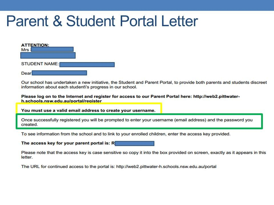 PHS Parent and Student Portal - Pittwater High School